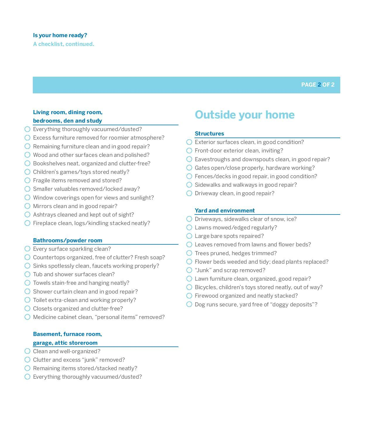Selling your house checklist - Getting Ready To List Your Home For Sale Here S A Checklist To Help You